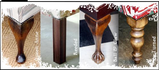 footstools leg styles